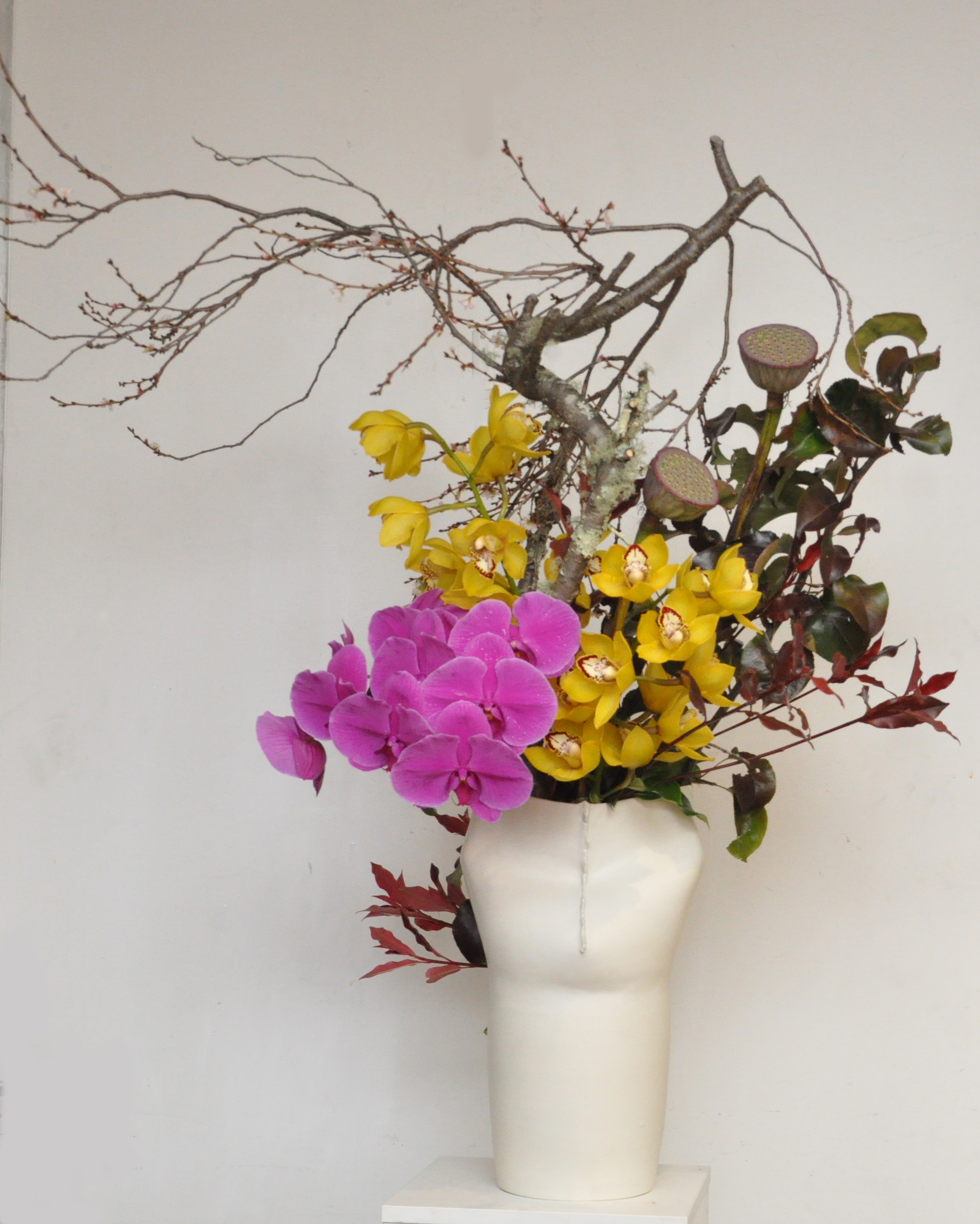 Japanese Ikebana Arrangement For Shue Uemura Event Yuga Cafe And